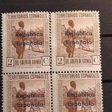 Francobolli: GUINEA , EDIFIL 231 ** BLOQUE 4, 1931. Lote 198260596