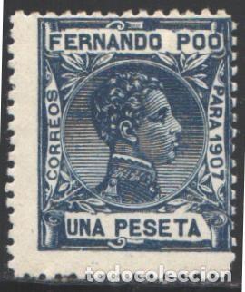 FERNANDO POO, 1907 EDIFIL Nº 162 /*/ (Sellos - España - Colonias Españolas y Dependencias - África - Fernando Poo)
