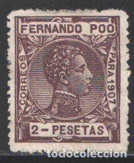FERNANDO POO, 1907 EDIFIL Nº 163 (*) (Sellos - España - Colonias Españolas y Dependencias - África - Fernando Poo)