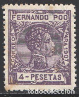 FERNANDO POO, 1907 EDIFIL Nº 165 /*/ (Sellos - España - Colonias Españolas y Dependencias - África - Fernando Poo)
