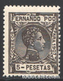 FERNANDO POO, 1907 EDIFIL Nº 166 /*/ (Sellos - España - Colonias Españolas y Dependencias - África - Fernando Poo)