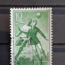 Sellos: GUINEA , EDIFIL 354 , 1955 FÚTBOL. Lote 198497233