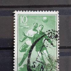 Sellos: GUINEA , EDIFIL 354 , 1955 FÚTBOL. Lote 198497245