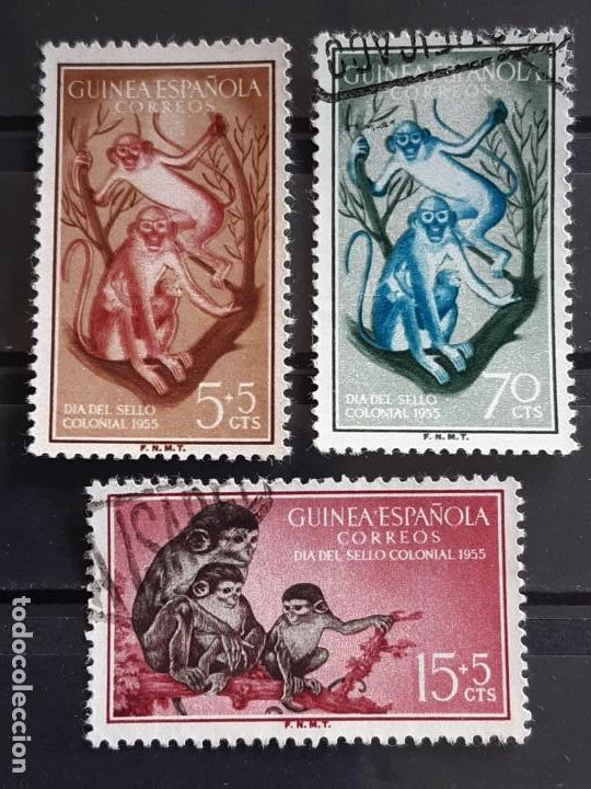 GUINEA , EDIFIL 355-357, 1955 FAUNA (Sellos - España - Colonias Españolas y Dependencias - África - Guinea)