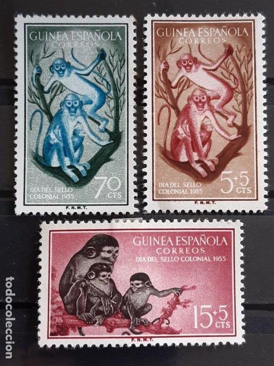 GUINEA , EDIFIL 355-357 *, 1955 FAUNA (Sellos - España - Colonias Españolas y Dependencias - África - Guinea)