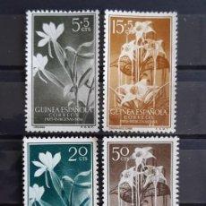 Sellos: GUINEA , EDIFIL 358-361 (*), 1956 FLORA. Lote 198498180
