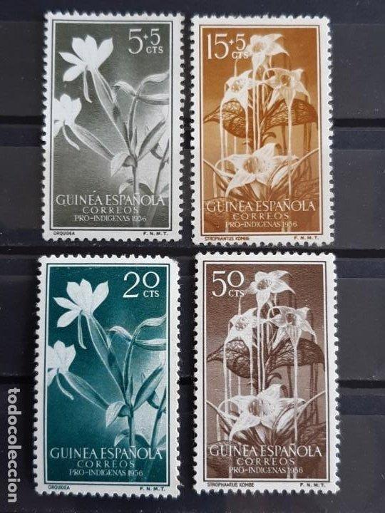 GUINEA , EDIFIL 358-361 *, ÓXIDO, 1956 FLORA (Sellos - España - Colonias Españolas y Dependencias - África - Guinea)