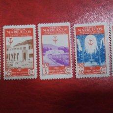 Sellos: MARUECOS 331/335. PROTUBERCULOSOS. 1946. NUEVOS CON CHARNELA.. Lote 198515495
