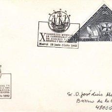 Sellos: TARJETA: 1992 MADRID. X CONGRESO MUNDIALCIRUGIA PLASTICA ESTETICA Y RECONSTRUCCION. Lote 199191037