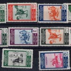 Sellos: SELLOS ESPAÑA.MARRUECOS 1953. XXV ANIVERSARIO SELLO MARROQUÍ.EDIFIL.Nº 386-393. Lote 199318901