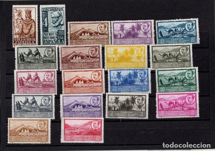 AFRICA OCCIDENTAL DEL 1 AL 19 (Sellos - España - Colonias Españolas y Dependencias - África - África Occidental)