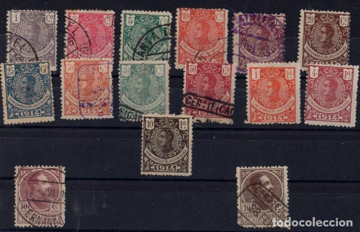 GUINEA 1914 ALFONSO XIII 98 AL 110 128 140 (Sellos - España - Colonias Españolas y Dependencias - África - Guinea)
