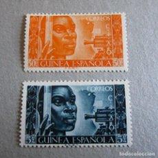 Sellos: GUINEA ESPAÑOLA 1951, EDIFIL Nº 309/10**, CONFERENCIA INTERNACIONAL. Lote 199591913
