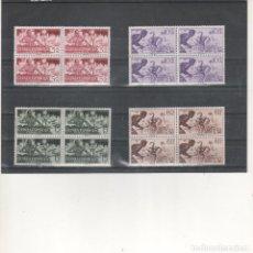 Sellos: GUINEA-334/37 PRO INDÍGENAS BLOQUE DE CUATRO SELLOS NUEVOS SIN FIJASELLOS (SEGÚN FOTO). Lote 199706352