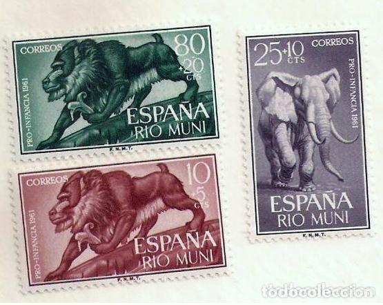 SERIE SELLOS RIO MUNI 1961 - PRO INFANCIA (Sellos - España - Colonias Españolas y Dependencias - África - Río Muni)