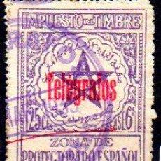 Sellos: ESPAÑA. MARRUECOS, TELÉGRAFOS.IMPUESTO DEL TIMBRE, EN USADO. Lote 213810380