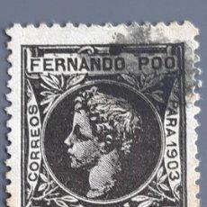 Selos: FERNANDO POO , EDIFIL 128 , YVERT 119, 1903. Lote 201206225
