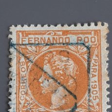 Selos: FERNANDO POO , EDIFIL 143, YVERT 134, 1905. Lote 201208987
