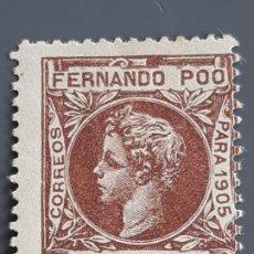 Selos: FERNANDO POO , EDIFIL 145 *, YVERT 136, 1905. Lote 201209496