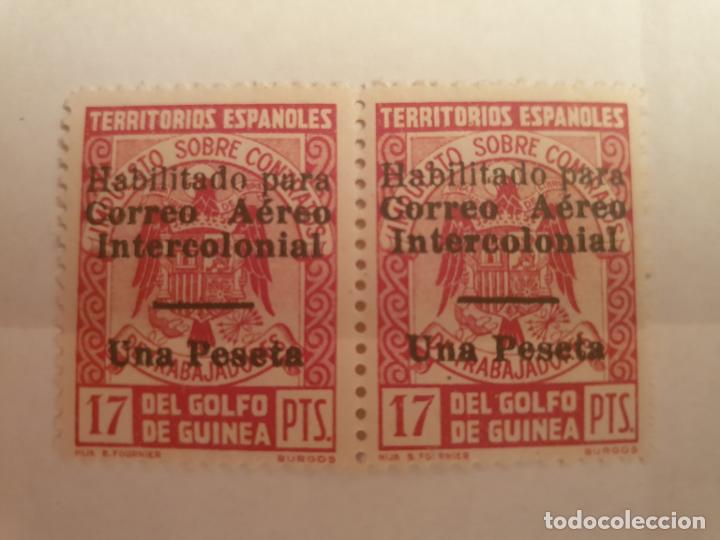COLONIAS ESPAÑOLAS GUINEA EDIFIL 259L ** 2 SELLOS AÑO 1940-41 CORREO AEREO INTERCOLONIAL (Sellos - España - Colonias Españolas y Dependencias - África - Guinea)