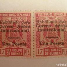 Sellos: COLONIAS ESPAÑOLAS GUINEA EDIFIL 259L ** 2 SELLOS AÑO 1940-41 CORREO AEREO INTERCOLONIAL. Lote 201996581