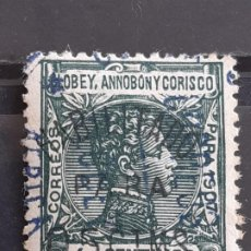 Sellos: ELOBEY, ANNOBÓN Y CORISCO, EDIFIL 50D , 1908-1909. Lote 202082737