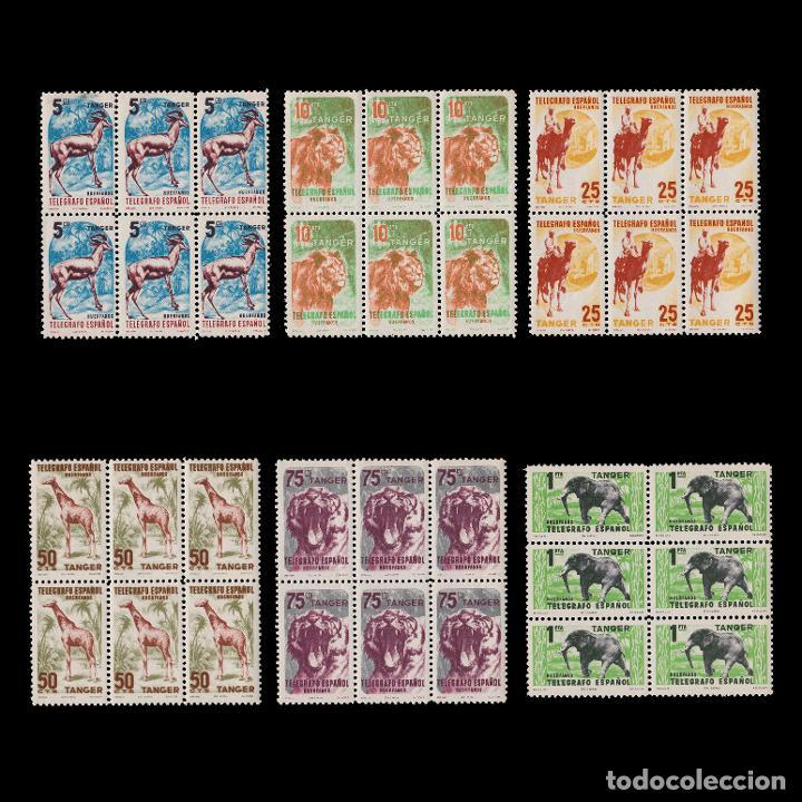TANGER.BENEFICENCIA 1957.HUÉRFANOS.SERIE BLQ 6.MNH (Sellos - España - Colonias Españolas y Dependencias - África - Tanger)
