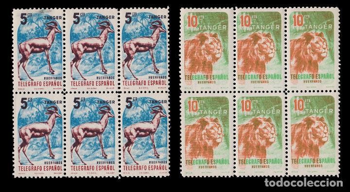Sellos: TANGER.Beneficencia 1957.Huérfanos.Serie Blq 6.MNH - Foto 2 - 202997895