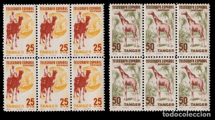 Sellos: TANGER.Beneficencia 1957.Huérfanos.Serie Blq 6.MNH - Foto 3 - 202997895
