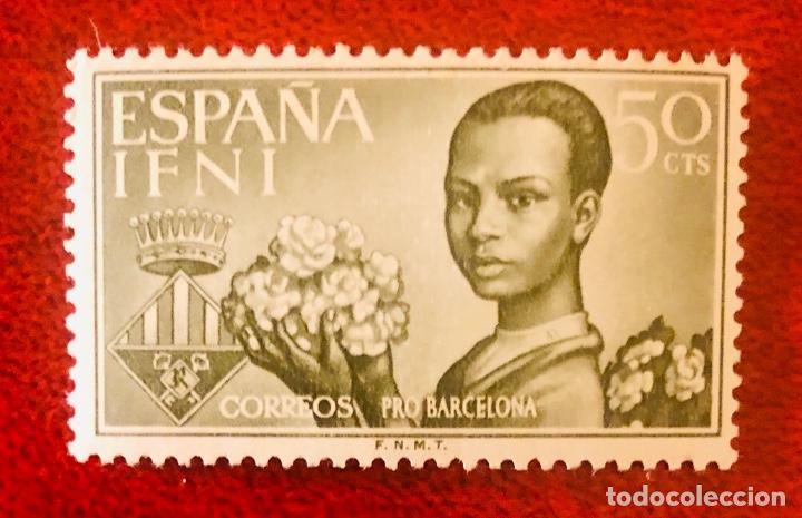 """BONITOS SELLOS PROVINCIA DE IFNI SERIE ESPECIAL """"PRO BARCELONA"""" (Sellos - España - Colonias Españolas y Dependencias - África - Ifni)"""