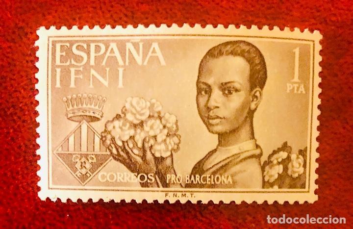"Sellos: Bonitos sellos Provincia de Ifni serie especial ""Pro Barcelona"" - Foto 2 - 203011571"