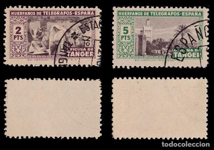 Sellos: Tanger.Beneficencia1947. Huérfanos.Serie.Usado.Edifil 35-46 - Foto 5 - 203173276