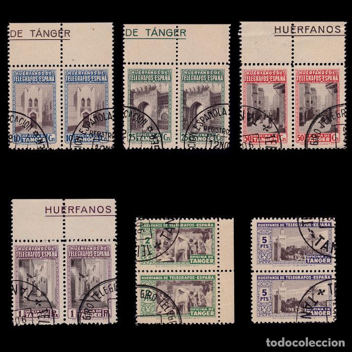 TANGER.BENEFICENCIA.1947.BLQ 2.SERIE.USADO.EDIFIL 35-40 (Sellos - España - Colonias Españolas y Dependencias - África - Tanger)