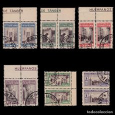 Sellos: TANGER.BENEFICENCIA.1947.BLQ 2.SERIE.USADO.EDIFIL 35-40. Lote 203174168
