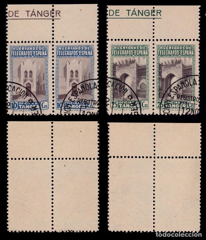 Sellos: TANGER.Beneficencia.1947.Blq 2.Serie.Usado.Edifil 35-40 - Foto 2 - 203174168