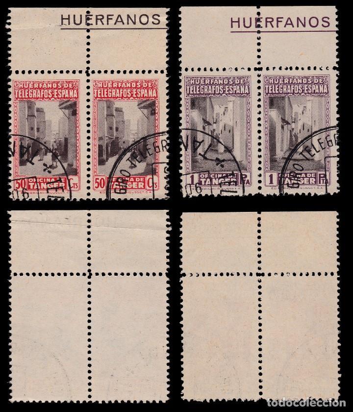 Sellos: TANGER.Beneficencia.1947.Blq 2.Serie.Usado.Edifil 35-40 - Foto 3 - 203174168