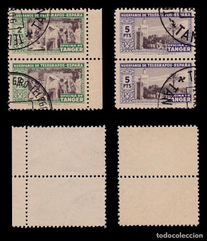 Sellos: TANGER.Beneficencia.1947.Blq 2.Serie.Usado.Edifil 35-40 - Foto 4 - 203174168