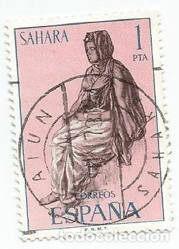 2 SELLOS USADOS DE 1972- SERIE SAHARA- TIPOS INDIGENAS- EDIFIL 297 (Sellos - España - Colonias Españolas y Dependencias - África - Sahara)