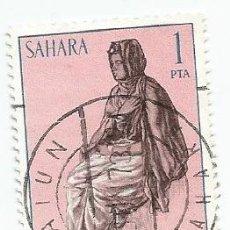 Sellos: 2 SELLOS USADOS DE 1972- SERIE SAHARA- TIPOS INDIGENAS- EDIFIL 297. Lote 203863277