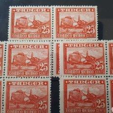 Sellos: SELLOS DE TANGER AÑO 1948 EDIF.167 3 BLOQUES DE 4 Y197. Lote 204451601