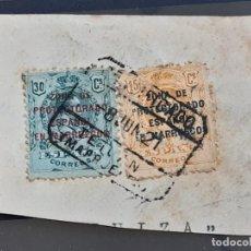 Sellos: MARRUECOS , EDIFIL 63 + 61 EN FRAGMENTO , 1916-20. Lote 205234683