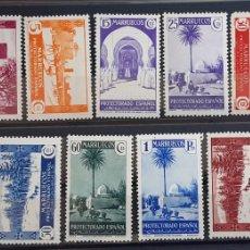 Sellos: MARRUECOS , EDIFIL 148-160 *, 1935-37. Lote 205238403