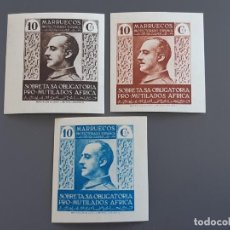 Sellos: MARRUECOS , BENEFICENCIA, EDIFIL SD 1-3 * *, 1937-38. Lote 205244967