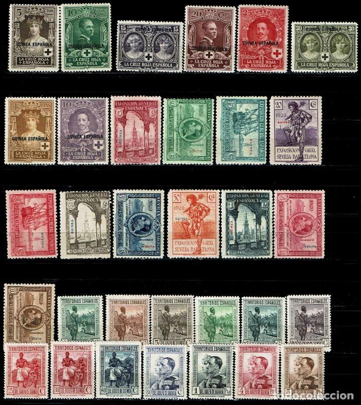 GUINEA ESPAÑOLA LOTE DE 132 SELLOS SURTIDOS (Sellos - España - Colonias Españolas y Dependencias - África - Guinea)