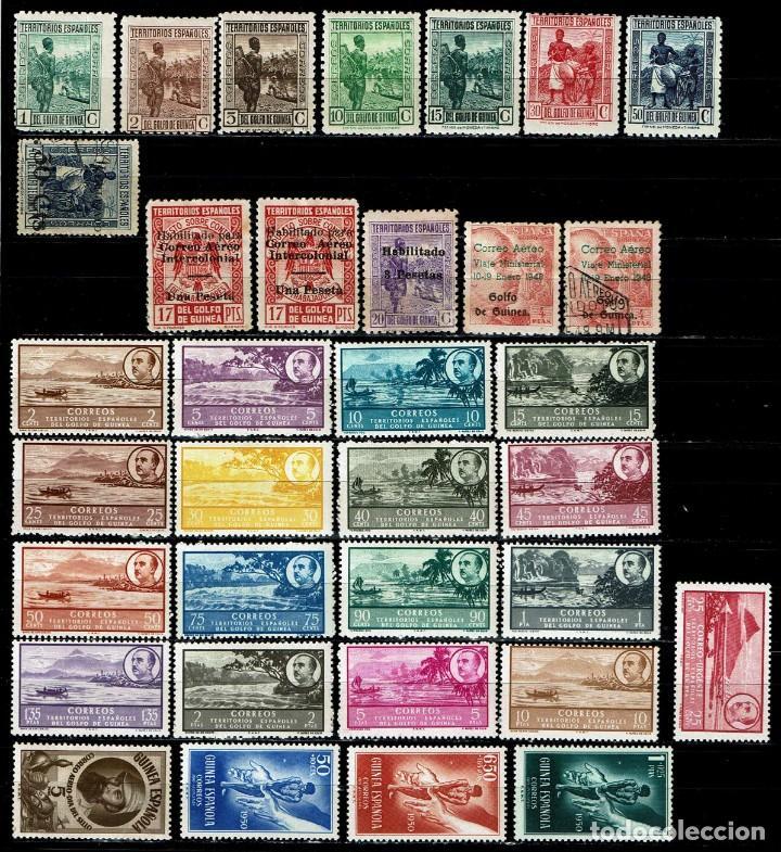 Sellos: GUINEA ESPAÑOLA LOTE DE 132 SELLOS SURTIDOS - Foto 2 - 205370042