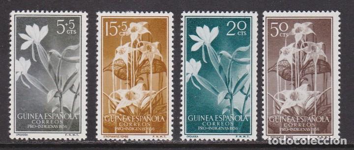 GUINEA 1956 - FLORA SERIE COMPLETA NUEVA SIN FIJASELLOS EDIFIL Nº 358/361 (Sellos - España - Colonias Españolas y Dependencias - África - Guinea)