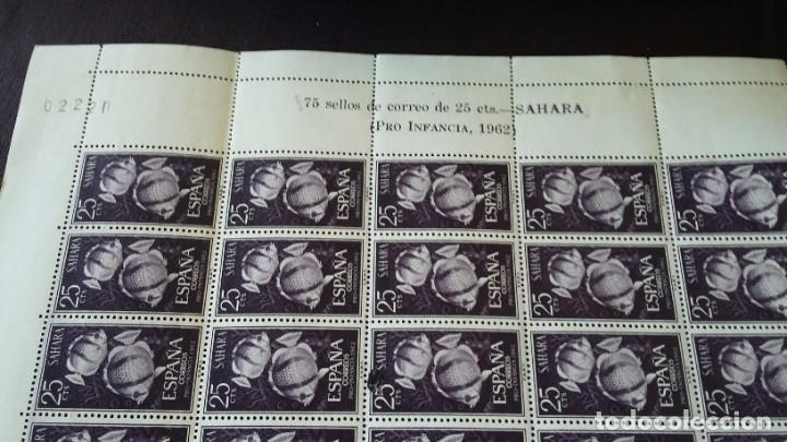 Sellos: SERIE COMPLETA 3X75 SAHARA ESPAÑOL 209.210,211, 1962, 10 JULIO PRO INFANCIA - Foto 2 - 205575060