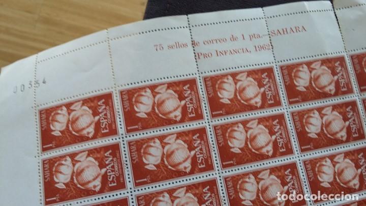 Sellos: SERIE COMPLETA 3X75 SAHARA ESPAÑOL 209.210,211, 1962, 10 JULIO PRO INFANCIA - Foto 3 - 205575060