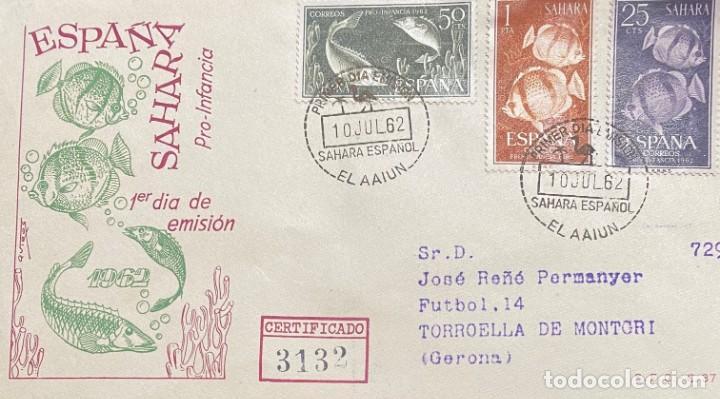 LOTE DE TRES CARTAS SAHARA ESPAÑOL (Sellos - España - Colonias Españolas y Dependencias - África - Sahara)