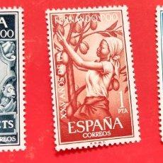 Sellos: SELLOS FERNANDO POO 1965 SERIE COMPLETA 3 VALORES XXV AÑOS DE PAZ 239/40/41. Lote 205835656